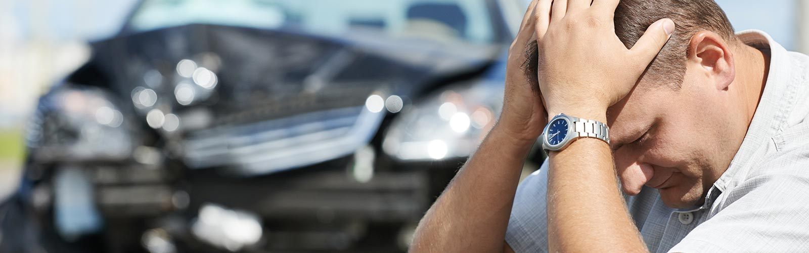 Man Needing an Attorney After a Car Accident